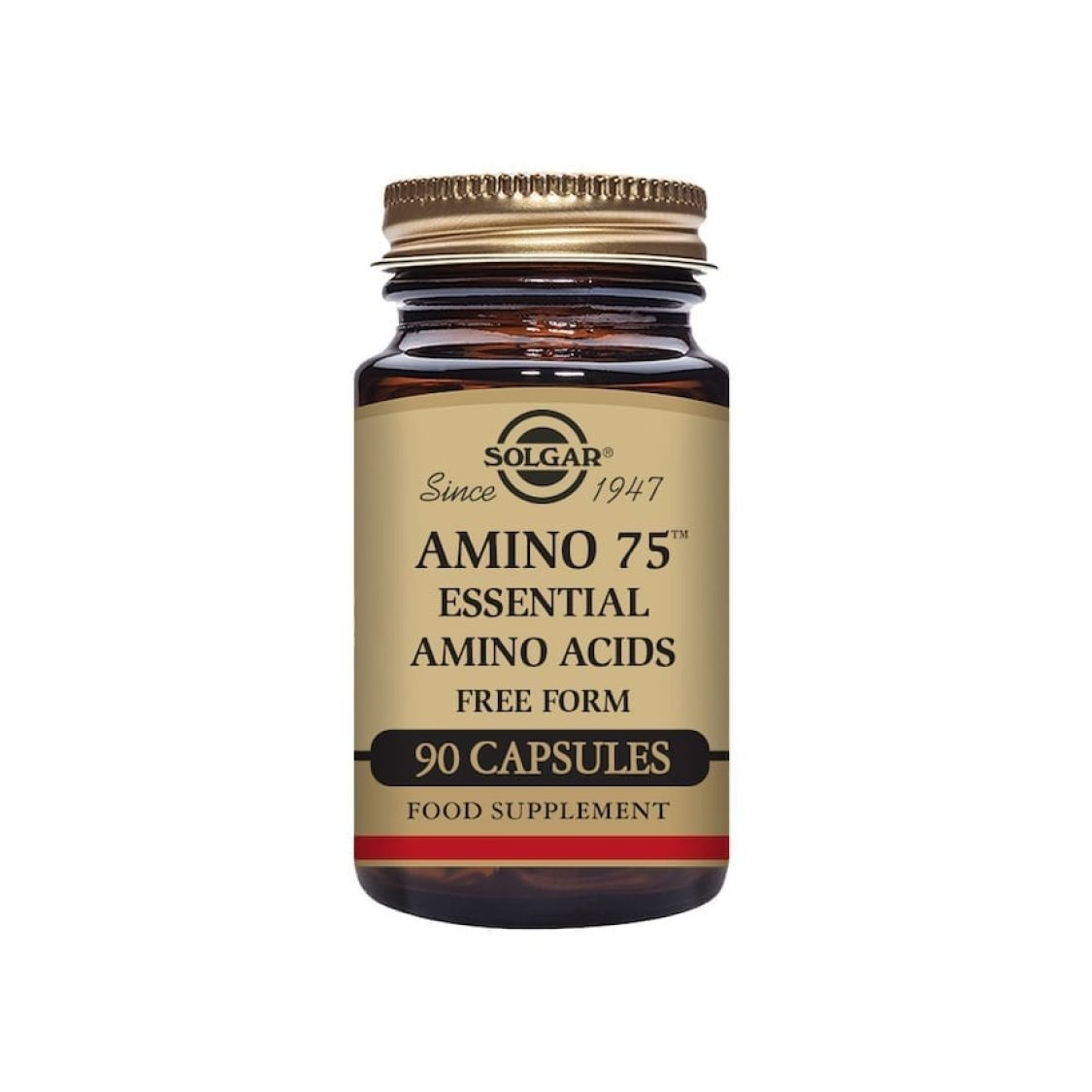 Solgar - Free Form Amino Acids - Amino 75 Vegicaps - Size: 90