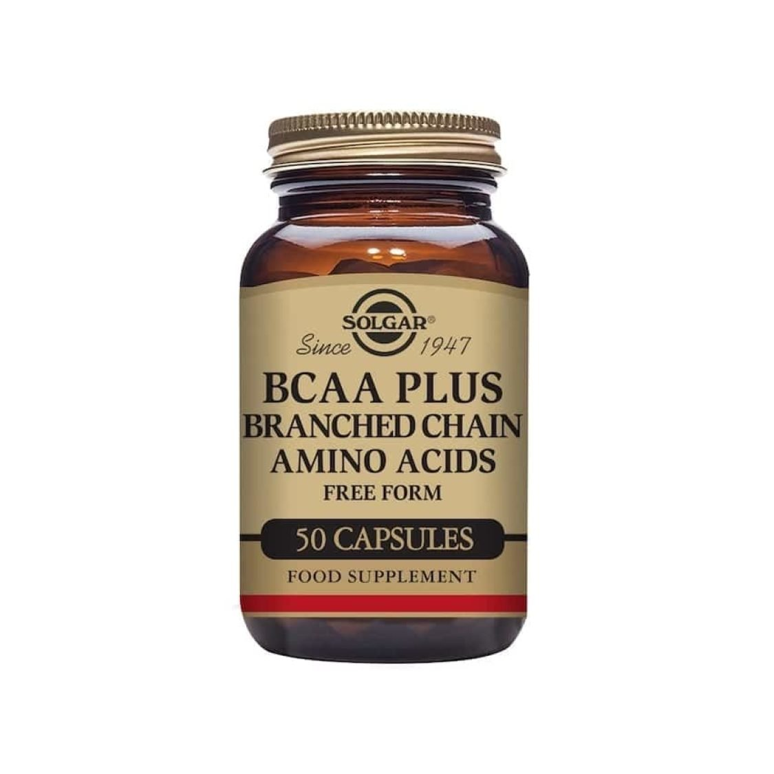 Solgar - Free Form Amino Acids - BCAA Plus Vegicaps - Size: 50