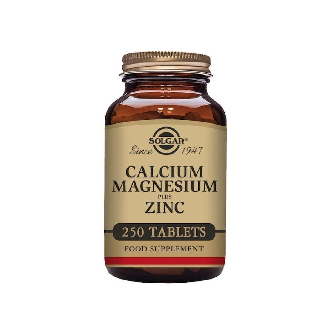 Solgar - Minerals  - Calcium Magnesium Plus Zinc Tabs - Size: 250