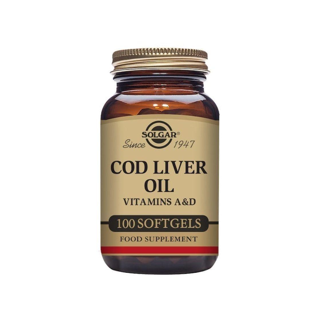 Solgar - Vitamin A & D / Cod Liver Oil - One-a-day Norwegian Cod Liver Oil - Size: 100