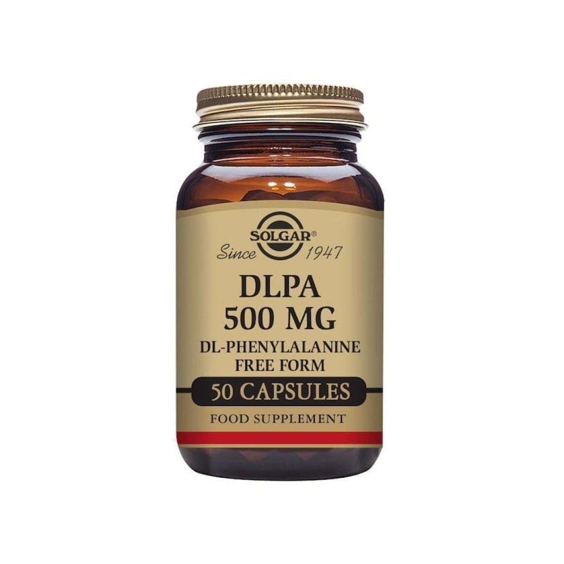 Solgar - Free Form Amino Acids - DLPA 500mg Vegicaps - Size: 50