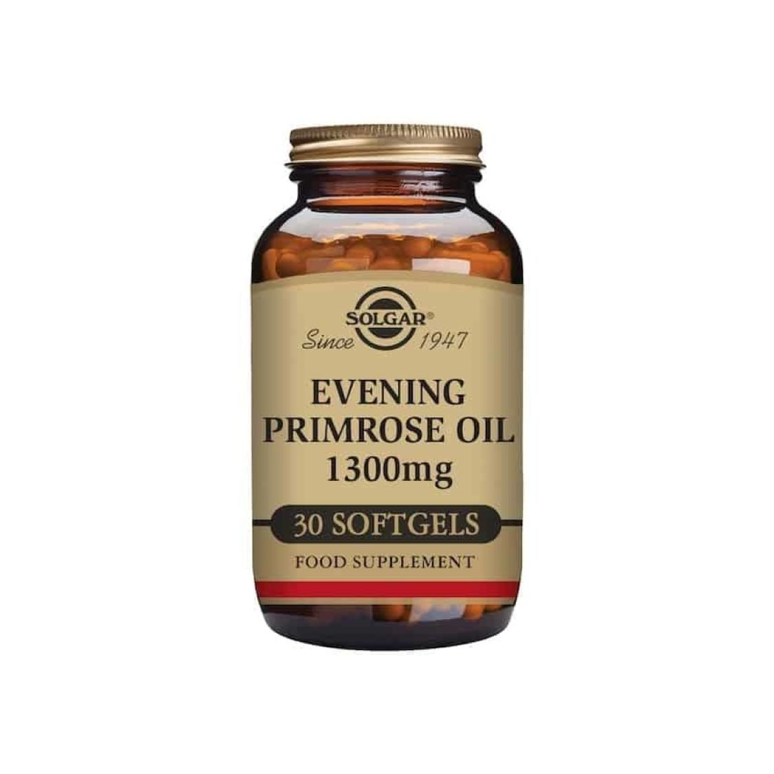 Solgar - Essential Fatty Acids - Evening Primrose Oil 1300mg Softgels - Size: 30
