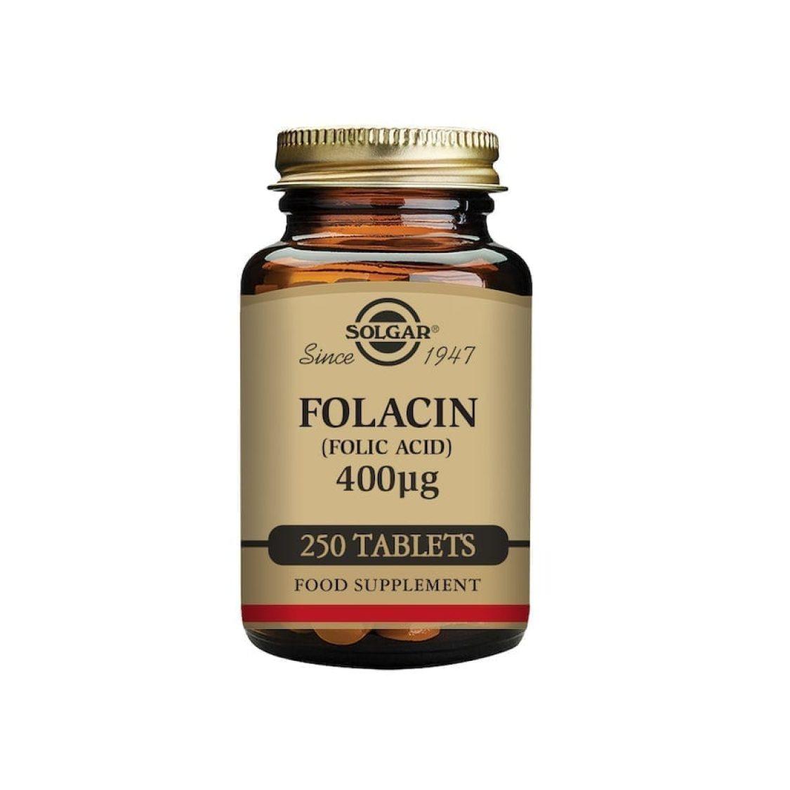 Solgar - Vitamin B - Folacin Tabs 400ug - Size: 250