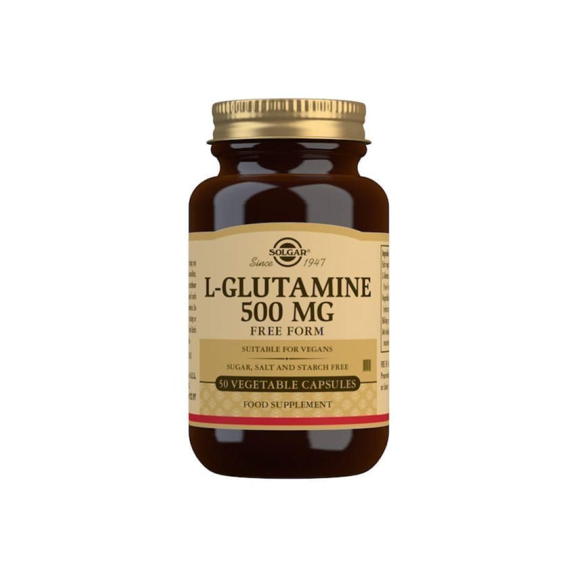 Solgar - Free Form Amino Acids - L-Glutamine 500mg Vegicaps - Size: 50