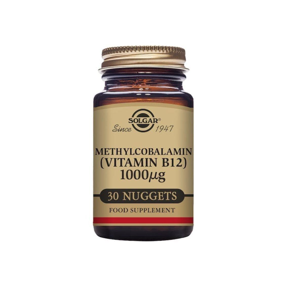Solgar - Vitamin B - Methylcobalamin 1000 mcg Nuggets  - Size: 30
