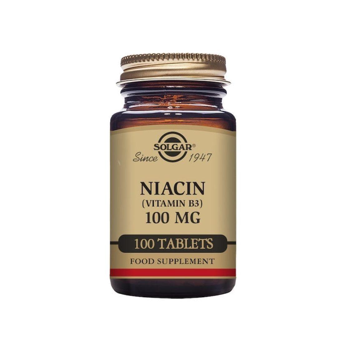 Solgar - Vitamin B - Niacin Tabs 100mg    - Size: 100
