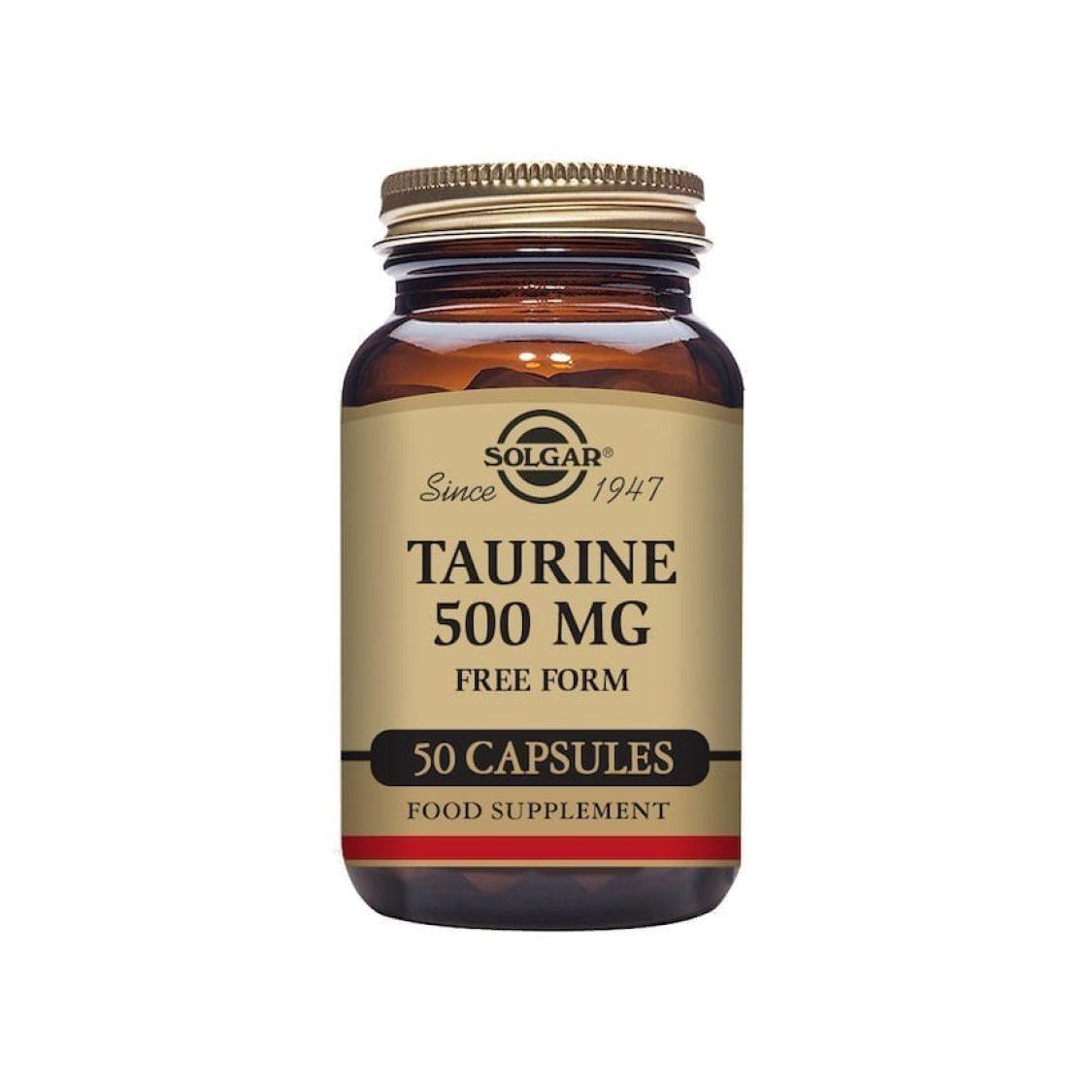 Solgar - Free Form Amino Acids - Taurine 500mg Vegicaps - Size: 50