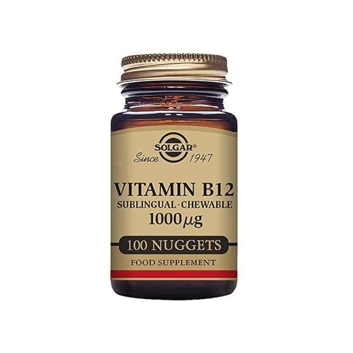 Solgar - Vitamin B - Vitamin B12 Nuggets 1000ug - Size: 100