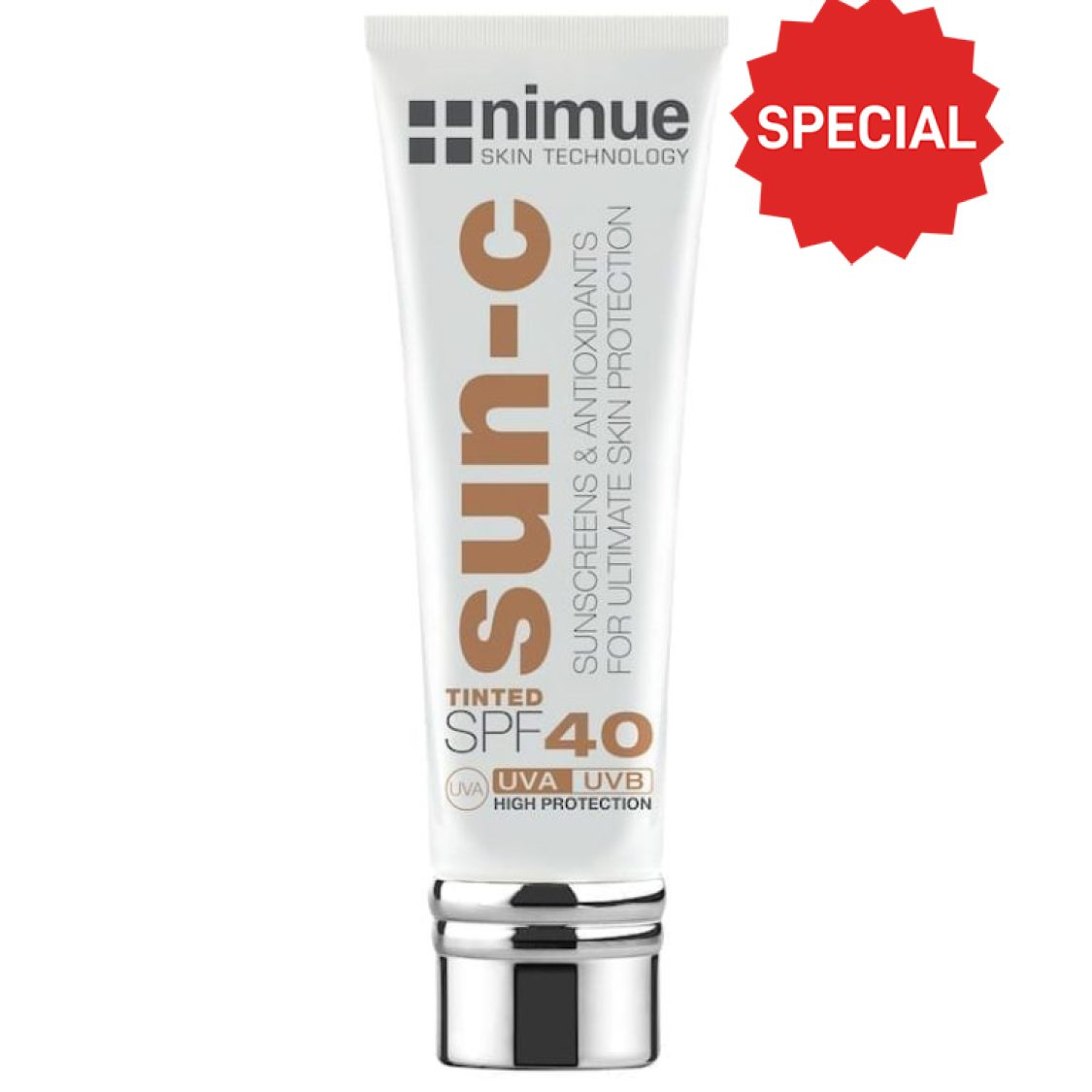 Nimue -  Sun-C Tinted SPF 40 Dark 60ml