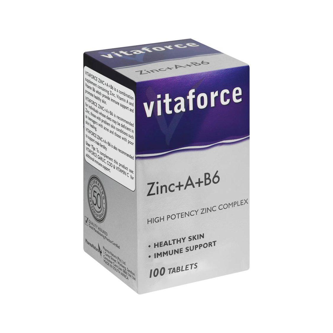 Vitaforce - Zinc+A+B6 100 Tabs
