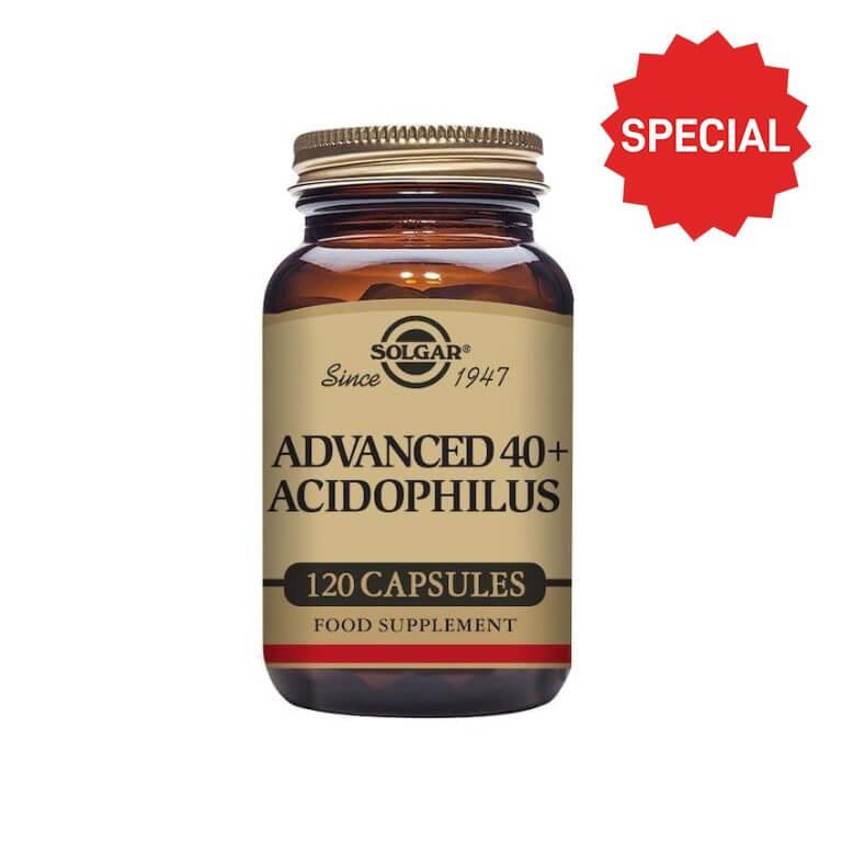 Solgar - Acidophilus - Advanced 40 + Acidophilus Vegicaps - Size: 120