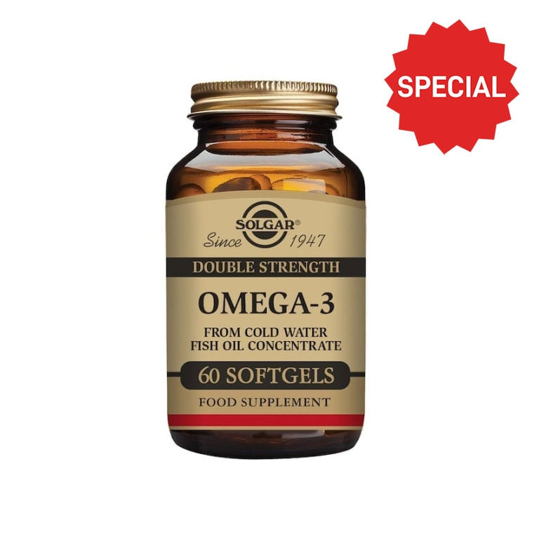 Solgar - Essential Fatty Acids - Omega3- Double Strength Softgels - Size: 60