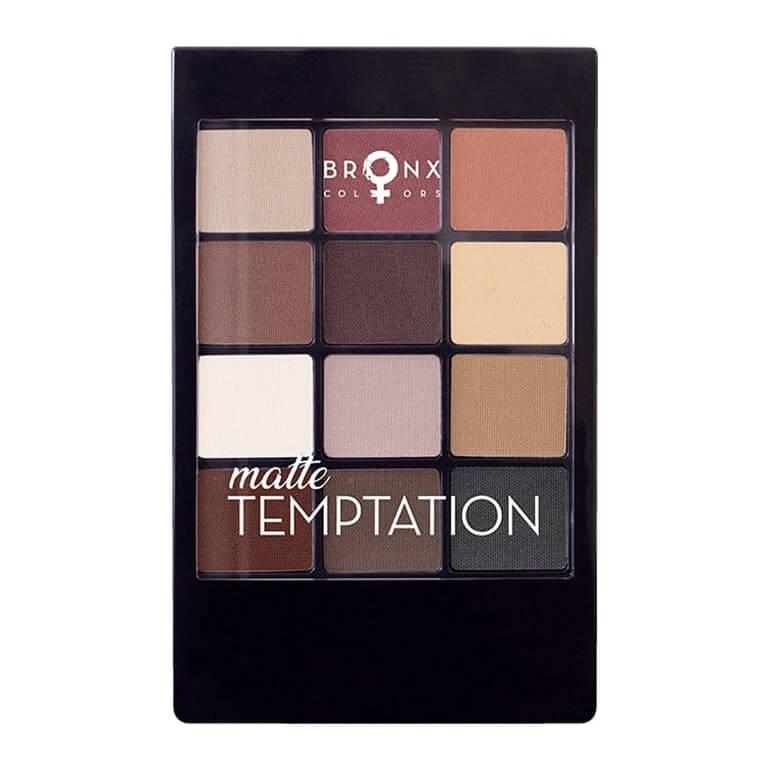 Bronx - 12 Colour Eyeshadow Palette - Matte Temptation
