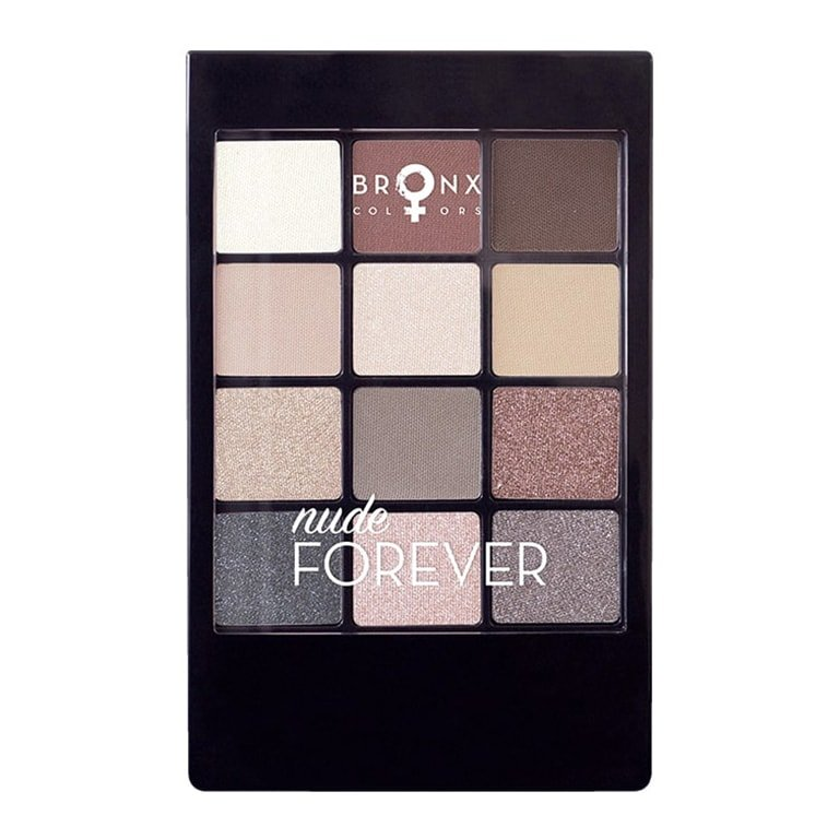 Bronx - 12 Colour Eyeshadow Palette - Nude Forever