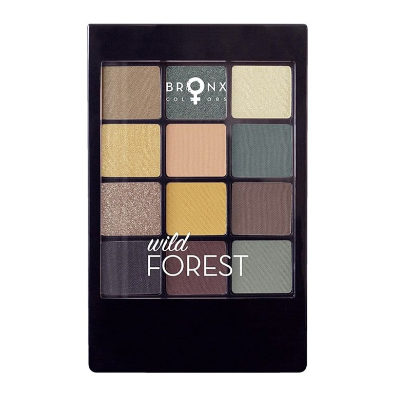Bronx - 12 Colour Eyeshadow Palette - Wild Forest
