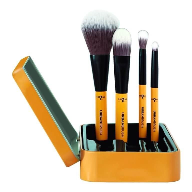 Bronx - Magnetic Urban Tin Case Brush Set 4pcs - 4pc Brush Set