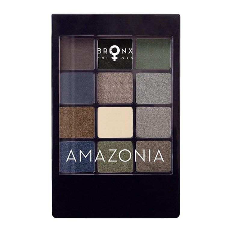 Bronx - 12 Colour Eyeshadow Palette with Applicator - Amazonia