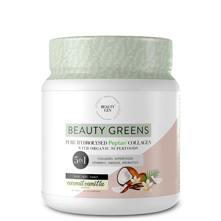 Beauty Gen - Beauty Greens Coconut Vanilla 450g
