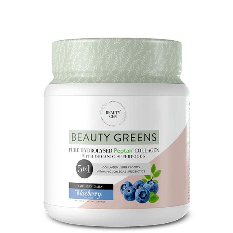 Beauty Gen - Beauty Greens Blueberry 450g