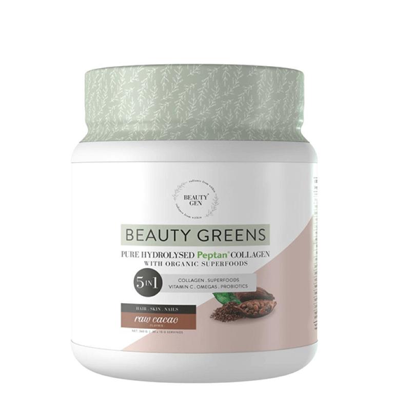 Beauty Gen - Beauty Greens Raw Cacao 450g