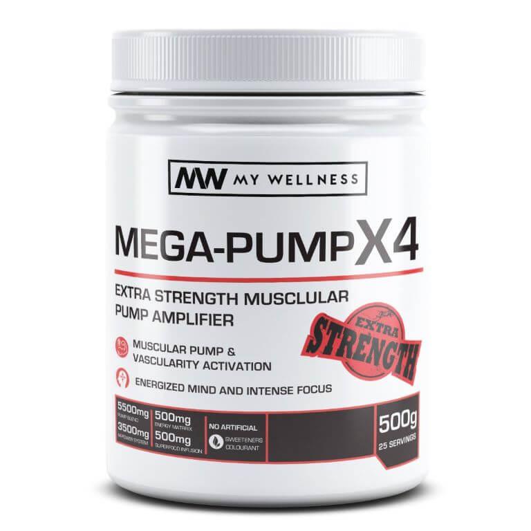 My Wellness - Mega Pump X4 500g Orange