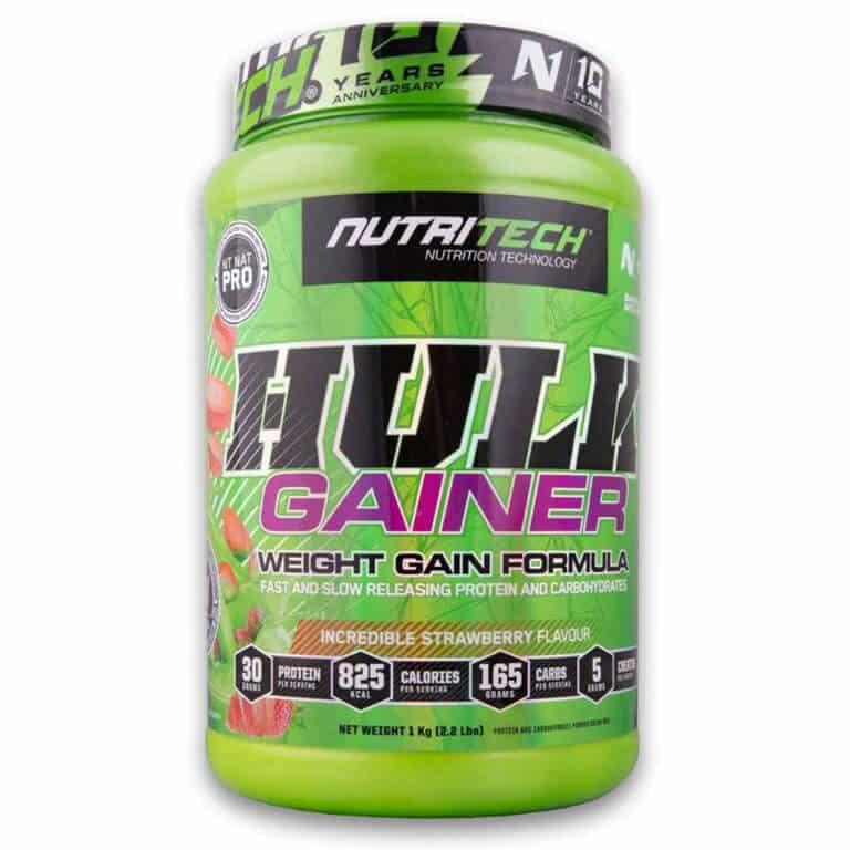 Nutritech - Hulk Gainer - Incredible Strawberry 1Kg