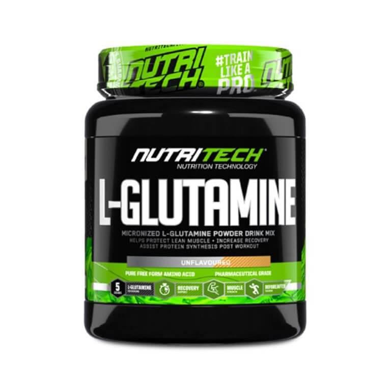 Nutritech - L-Glutamine - Unflavoured + Unsweetened 500g