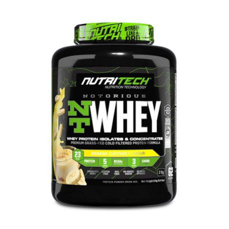 Nutritech - Notorious Nt Whey - Banana Custard 4.4Lb/2Kg