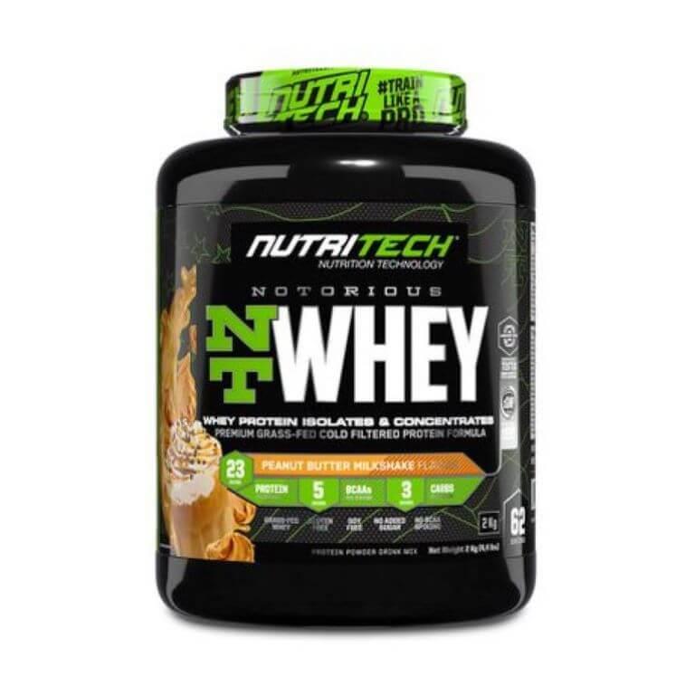 Nutritech - Notorious Nt Whey - Peanut Butter Milkshake 4.4Lb/2Kg