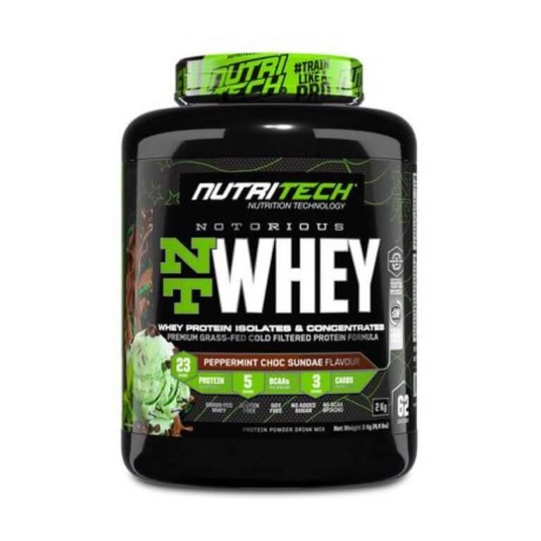 Nutritech - Notorious Nt Whey - Peppermint Choc Sundae 4.4Lb/2Kg