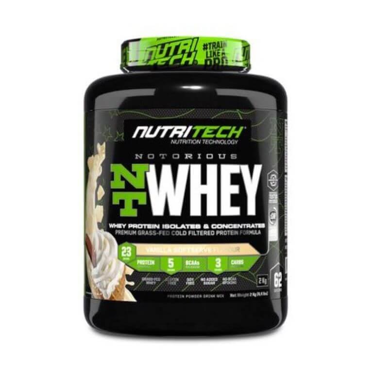Nutritech - Notorious Nt Whey - Vanilla Soft Serve 4.4Lb/2Kg