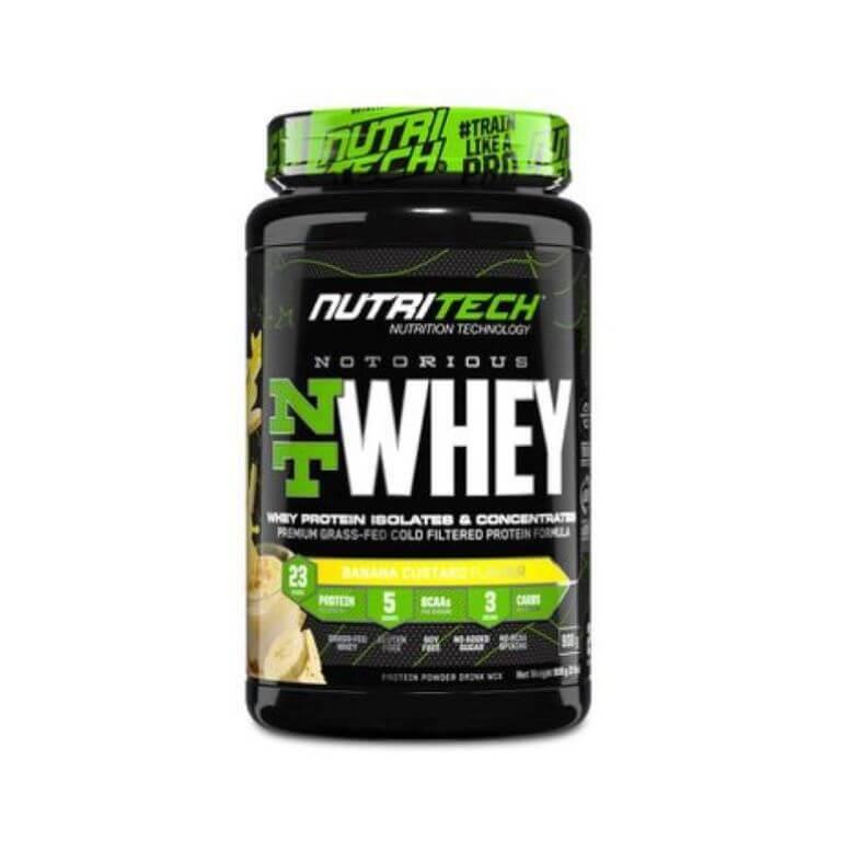 Nutritech - Notorious Nt Whey - Banana Custard 2Lbs/908G