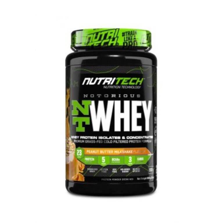 Nutritech - Notorious Nt Whey - Peanut Butter Milkshake 2Lbs/908G