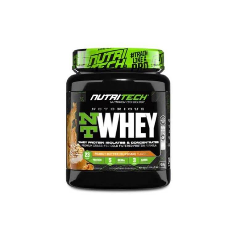 Nutritech - Notorious Nt Whey - Peanut Butter Milkshake 1Lb/454G