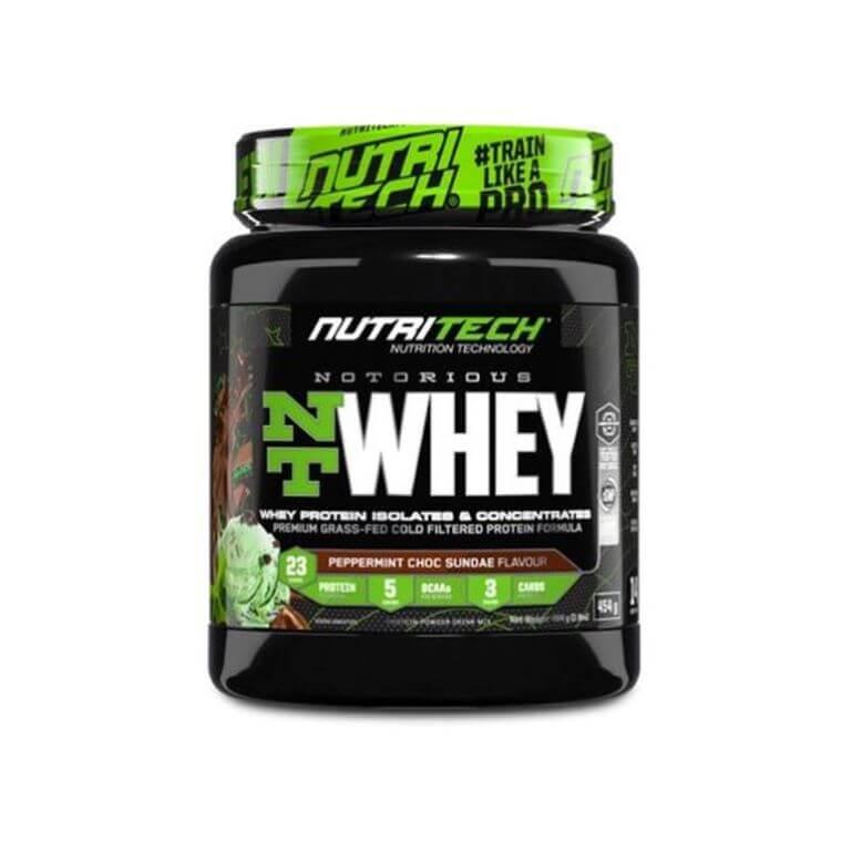 Nutritech - Notorious Nt Whey - Peppermint Choc Sundae 1Lb/454G
