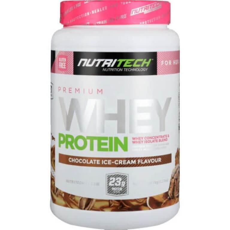 Nutritech - Premium Whey Protein For Her - Chocolate Ice-Cream 1Kg