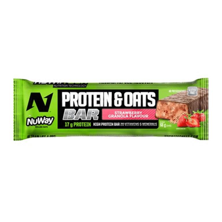 Nutritech - Whey Protein Bars - Strawberry Granola 12 x 68g