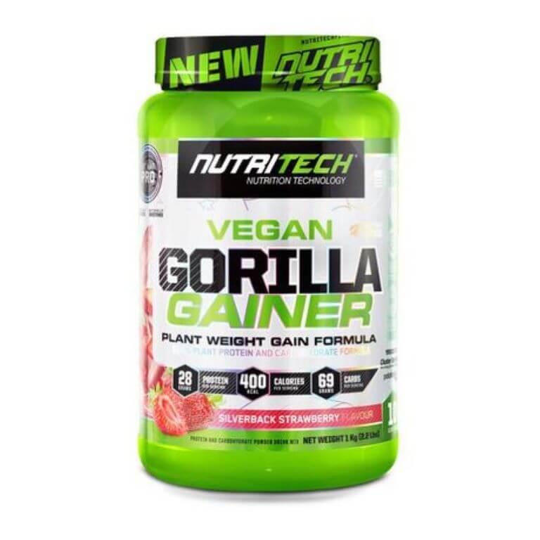 Nutritech - Vegan Gorilla Gainer - Silverback Strawberry 1Kg