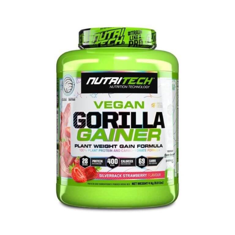 Nutritech - Vegan Gorilla Gainer - Silverback Strawberry 4Kg