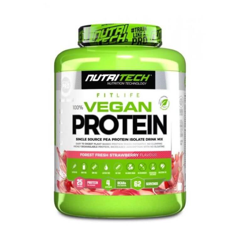 Nutritech - Vegan Protein 100% Pea Isolate - Forest Fresh Strawberry 2Kg