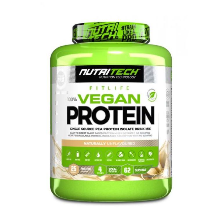 Nutritech - Vegan Protein 100% Pea Isolate - Natural Unflavoured 2Kg
