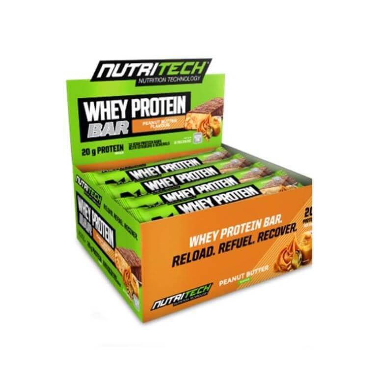Nutritech - Whey Protein Bars - Peanut Butter 12 x 68g