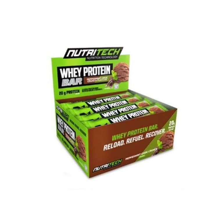 Nutritech - Whey Protein Bars - Peppermint Crunch 12 x 68g